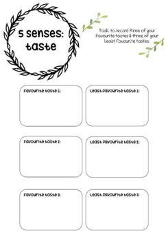5 SENSES VALUE TEMPLATE BUNDLE