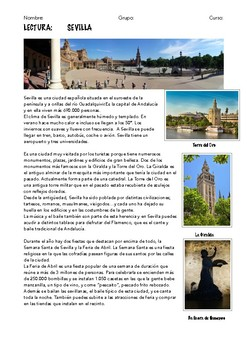 7 SPANISH READINGS: CITIES IN SPAIN