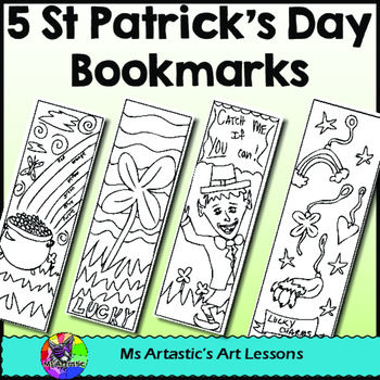 St. Patrick's Day Coloring Bookmarks