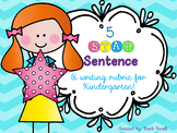 5 STAR Sentence: Rubric for Writing