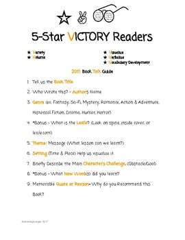 5 STAR VICTORY READER BOOK TALK GUIDE