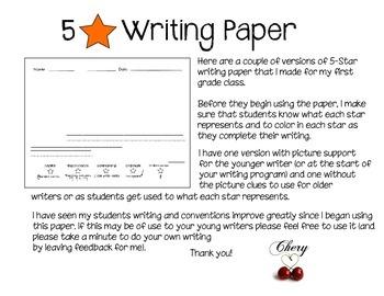 5 STAR Writing Paper