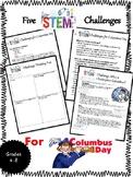 5 STEM Design Challenges for Columbus Day {BONUS Student H