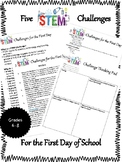 5 STEM Design Challenges for the First Day of School {BONU