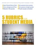 5 Scholastic Journalism Rubrics BUNDLE
