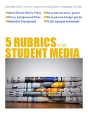 5 Scholastic Journalism Rubrics BUNDLE