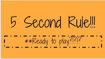 5 Second Rule!! Game