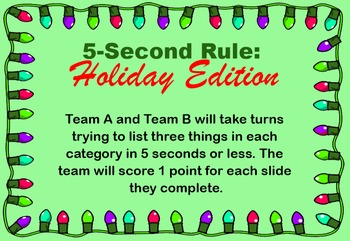 5-Second Rule: Holiday Edition