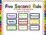 5 Second Rule: Parts of Speech (4th Grade)