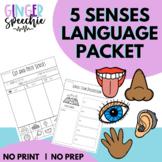 5 Sense Language Packet | No Prep