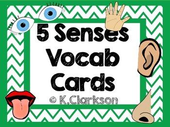 5 Senses Vocabulary Cards