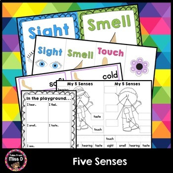 Five Senses Posters and Activities