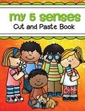 5 Senses Cut and Paste Coloring Book
