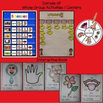 5 Senses for Kinders Science Unit