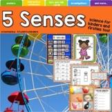 5 Senses, Sight, Touch, Hear, Smell, Taste, Back to School