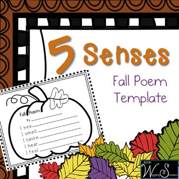 5 Senses 4 Seasons Fall Poem