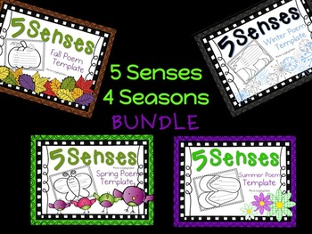 5 Senses 4 Seasons Poem BUNDLE!