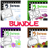 5 Senses 4 Seasons Poem BUNDLE!