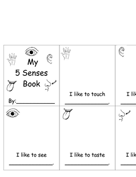 5 senses books by ashley laver teachers pay teachers. Black Bedroom Furniture Sets. Home Design Ideas