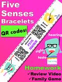 5 Senses Bracelets with QR Codes {Kindergarten Homework}