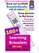 5 Senses Homework Bracelets with QR Codes {Kindergarten}