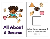 5 Senses Bundle (Adapted Book, File Folder, and Free Sorti