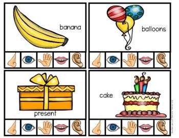 5 Senses Clip Cards!
