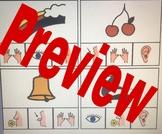 5 Senses Clip Up Cards