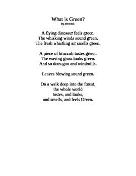 5 Senses Color Poems