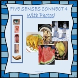 5 Senses Connect 4 Game - Adjective Describing - Distance Learning
