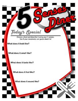 5 Senses Diner Menu