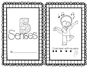 5 Senses Emergent Reader Pack