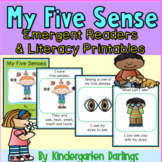 5 Senses Emergent Readers: No Prep Stories and Literacy Ac