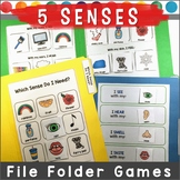 5 Senses File Folder Games