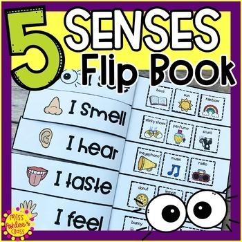 Five Senses Flip Book | Five Senses Activities | Special Education Resource