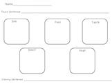 5 Senses Graphic Organizer for Writing Workshop