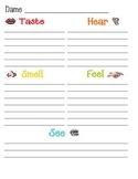 5 Senses Graphic Organizer with visual symbol