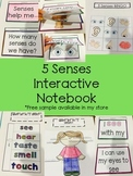 5 Senses Interactive Notebook