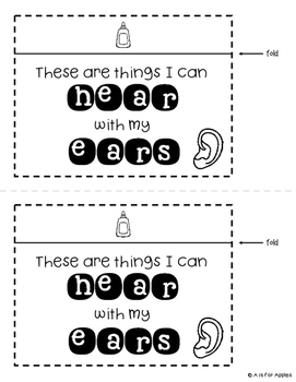 5 Senses Interactive Notebook Activities