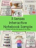 5 Senses Interactive Notebook Sample