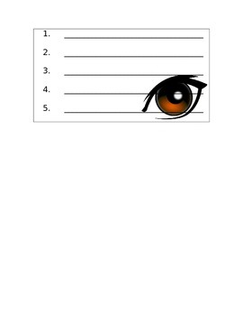 5 Senses Interactive Writing - Science