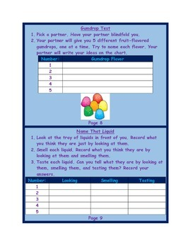 5 Senses Lab Book with Answer Key and Study Guide