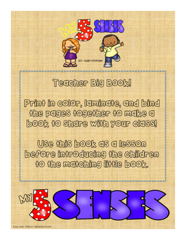 5 Senses Math and Literacy Pack!