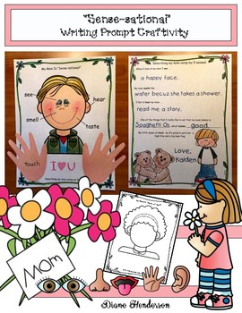 """5 Senses: Mother's Day or Father's Day """"Sense-sational"""" Writing Prompt Craft"""