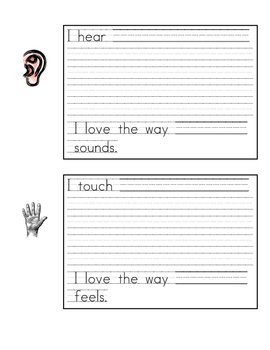 5 Senses Poem Template