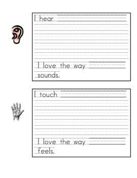 5 Senses Poem Template
