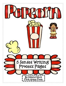 5 Senses Popcorn Writing Process Pack
