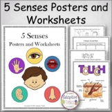 5 Senses Posters and Worksheets