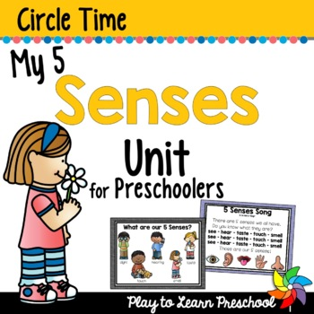 5 Senses Circle Time Unit