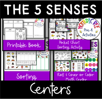 5 Senses Printable Activities and Worksheets